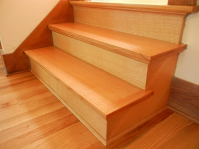New install of quartersawn red oak stairs
