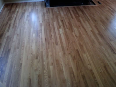 Installed #1 common red oak hardwood floor in Iowa City