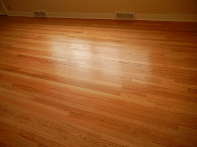 Repaired Red oak Hardwood floor in Iowa City